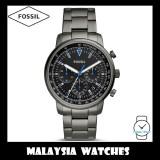 (OFFICIAL WARRANTY) Fossil Men's FS5518 Goodwin Chronograph Smoke Stainless Steel Watch