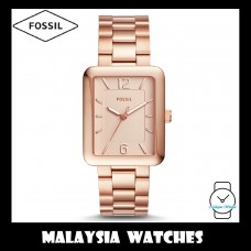 (OFFICIAL WARRANTY) Fossil Women's ES4156 Atwater Rose Gold-Tone Stainless Steel Watch
