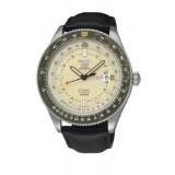 Seiko Automatic 100M SRP615K1 Leather Strap Gents Watch (Black & Mlik)