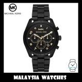 (100% Original) MICHAEL KORS Men's MK8684 Keaton Chronograph Black Dial Stainless Steel Watch
