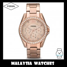 (OFFICIAL WARRANTY) Fossil ES2811 Riley Multifunction Rose-Tone Stainless Steel Watch