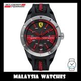 (100% Original) Scuderia Ferrari Men's 0830253 RedRev T Black & Red Watch (2 Years International Warranty)