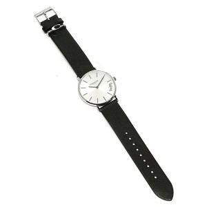 (100% ORIGINAL) Coach Ladies' 14503115 Perry Collection Silver Dial Black Leather Strap Watch TWO (2) Years International Warranty