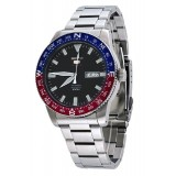 Seiko 5 Sports Men's Stainless Steel Strap Automatic Watch SRP661K1 (Silver, Black, Red & Blue)