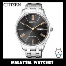 (100% Original) Citizen Gents NH8360-80J Mechanical Black Dial Stainless Steel Automatic Watch