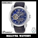 Seiko Premier Gents SSA399J1 Automatic Sapphire Blue Skeleton Dial Made in Japan Blue Leather Strap Watch