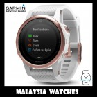 (OFFICIAL WARRANTY) Garmin Fenix 5S Rose Goldtone Sapphire GPS Watch with White Band