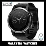 (OFFICIAL WARRANTY) Garmin Fenix 5S Black Sapphire GPS Watch with Black Band