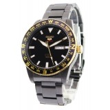 Seiko 5 Sports Men's Stainless Steel Strap Automatic Watch SRP670K1 (Black & Gold)