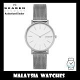 (100% Original) Skagen Ladies SKW2785 Signatur Silver-Tone Steel Mesh Watch (Silver)