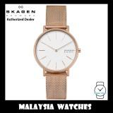 (100% Original) Skagen Ladies SKW2784 Signatur Rose-Tone Steel Mesh Watch (2 Years International Warranty)