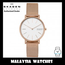 (100% Original) Skagen Ladies SKW2784 Signatur Rose-Tone Steel Mesh Watch (2 Years International Warranty)
