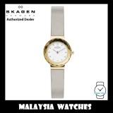 (100% Original) Skagen Ladies SKW2778 Leonora Silver Leather Watch (2 Years International Warranty)