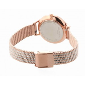 (100% Original) Skagen Ladies SKW2749 Anita Two-Tone Steel Ripple-Mesh Watch (2 Years International Warranty)