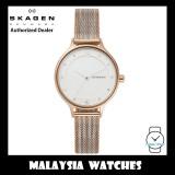 (100% Original) Skagen Ladies SKW2749 Anita Two-Tone Steel Ripple-Mesh Watch (2 Years International Warranty)