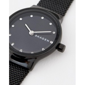 (100% Original) Skagen Ladies SKW2747 Freja Black Steel-Mesh Watch (2 Years International Warranty)