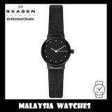 (100% Original) Skagen Ladies SKW2747 Freja Black Steel-Mesh Watch (2 Years International Warranty)