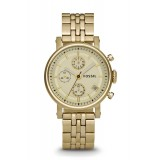 Fossil ES2197 Original Boyfriend Chronograph Gold-Tone Stainless Steel Watch
