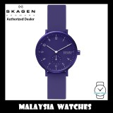 (100% Original) Skagen Unisex SKW2802 Aaren Kulør Purple Silicone Watch (2 Years International Warranty)