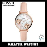 (OFFICIAL WARRANTY) Fossil Women's ES4671 Jacqueline Three-Hand Blush Pink Leather Watch