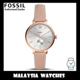 (OFFICIAL WARRANTY) Fossil Women's ES4572 Kalya Three-Hand Nude Leather Watch