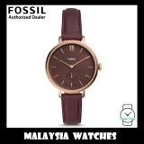 (OFFICIAL WARRANTY) Fossil Women's ES4665 Kalya Three-Hand Fig Leather Watch