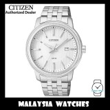 (100% Original) Citizen Gents BI1081-52A Quartz 50M Date Silver Dial Stainless Steel Bracelet Watch