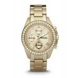 Fossil ES2683 Decker Chronograph Gold-Tone Stainless Steel Watch