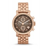 Fossil ES3494 Original Boyfriend Chronograph Rose-Tone Stainless Steel Watch