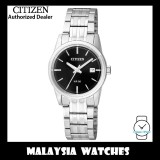 (100% Original) Citizen Ladies EU6000-57E Dress Quartz Black Dial Stainless Steel Watch