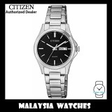 (100% Original) Citizen Ladies EQ0591-81E Dress Quartz Day & Date Black Dial Stainless Steel Watch