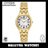 (100% Original) Citizen Ladies EW2482-53A Eco Drive White Dial Corso Gold-Tone Stainless Steel Solar Watch