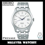 """Seiko Presage SRPD97J1 """"Zen Garden"""" Made in Japan Silver White Dial Sapphire Glass Automatic Stainless Steel Watch"""