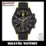 (100% Original) Scuderia Ferrari Men's 0830622 Pilota Chronometro Black Silicone Strap Watch TWO (2) Years International Warranty