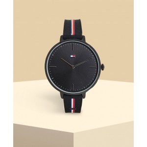 (100% Original) Tommy Hilfiger Ladies 1782155 Alexa Analogue Casual Black Silicone Watch (2 Years International Warranty)