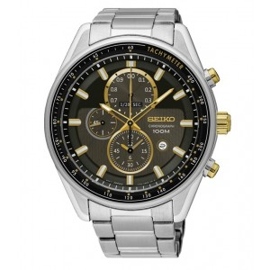 Seiko Gents SNDG99P1 LEE HOM Criteria Chronograph Sapphire Crystal Glass Stainless Steel Watch
