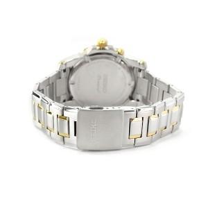 Seiko Premier SNQ142P1 Quartz Perpetual Calendar Sapphire Glass Two-Tone Stainless Steel Gents Watch