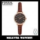 (OFFICIAL WARRANTY) Fossil Women ES4682 Kinsey Three-Hand Brown Leather Watch