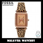 (OFFICIAL WARRANTY) Fossil Women ES4684 Lyric Three-Hand Faux Cheetah Hair Leather Watch