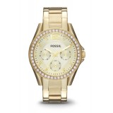 Fossil ES3203 Riley Multifunction Gold-Tone Stainless Steel Watch