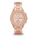 Fossil ES3352 Decker Chronograph Rose-Tone Stainless Steel Watch