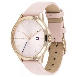 (100% Original) Tommy Hilfiger Ladies 1782090 Peyton Analogue Casual Pink Leather Strap Watch (2 Years International Warranty)