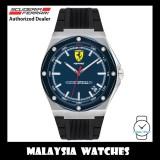 (100% Original) Scuderia Ferrari Men's 0830605 Aspire Blue Dial Black Silicone Strap Watch (2 Years International Warranty)