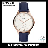 (OFFICIAL WARRANTY) Fossil Men's FS5567 Andy Three-Hand Date Navy Leather Watch (2 Years Fossil Warranty)