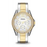 Fossil ES3204 Riley Multifunction Two-Tone Stainless Steel Watch