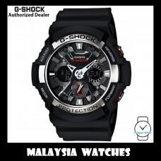 (OFFICIAL WARRANTY) Casio G-SHOCK GA-200-1A Standard Analog-Digital Black Resin Watch GA-200 / GA200 / GA200-1A / GA-200-1ADR