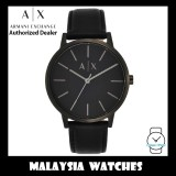 (100% Original) Armani Exchange Men's AX2705 Cayde Matte Black Dial Black Leather Watch (2 Years Warranty by AX)