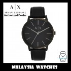 (100% Original ) Armani Exchange Men's AX2705 MATTE BLACK MINIMALIST LEATHER BAND WATCH (2 Years Warranty by AX)
