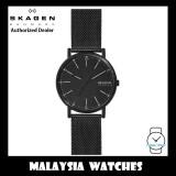 (100% Original ) Skagen SKW6579 Signatur Three-Hand Black Steel-Mesh Watch (2 Years International Warranty)
