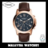 (OFFICIAL WARRANTY) Fossil Men's FS5068 Grant Chronograph Brown Leather Watch FS5068IE (100% Original)
